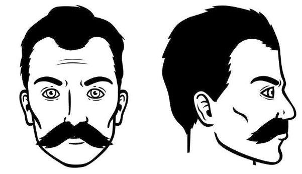 bigote del viejo oeste